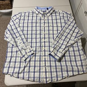 Izod Men's Big & Tall Multi-Colored Dress Shirt